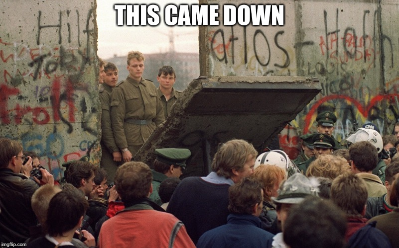 Berlin-wall | THIS CAME DOWN | image tagged in berlin-wall | made w/ Imgflip meme maker