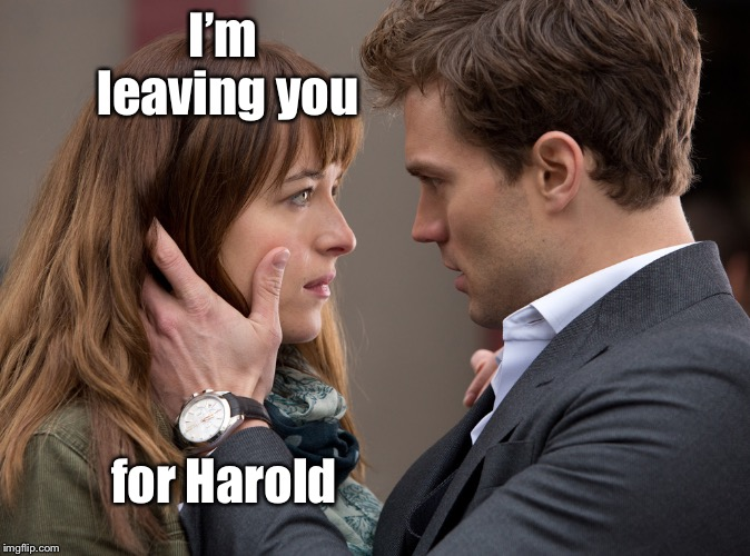 50 shades of gems | I'm leaving you for Harold | image tagged in 50 shades of gems | made w/ Imgflip meme maker