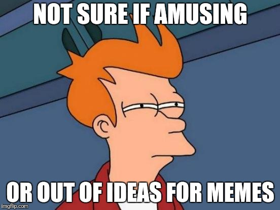 Not sure but I can guess |  NOT SURE IF AMUSING; OR OUT OF IDEAS FOR MEMES | image tagged in memes,futurama fry,bad memes,funny memes,memes about memes | made w/ Imgflip meme maker