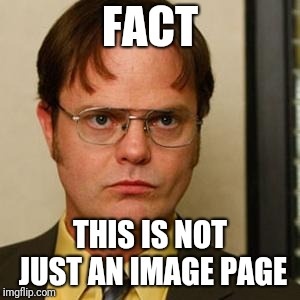 Dwight fact | FACT THIS IS NOT JUST AN IMAGE PAGE | image tagged in dwight fact | made w/ Imgflip meme maker