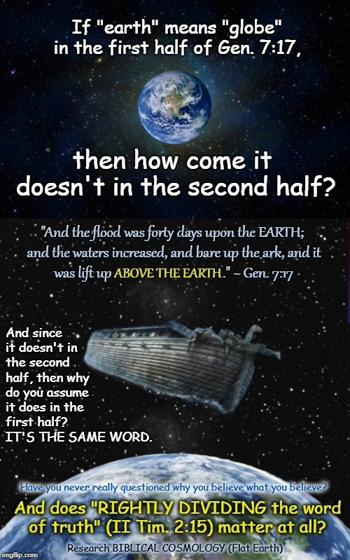 "So, What Exactly Does ""Earth"" Mean in the Bible??  (Hint: It DOESN'T Mean Sphere) 