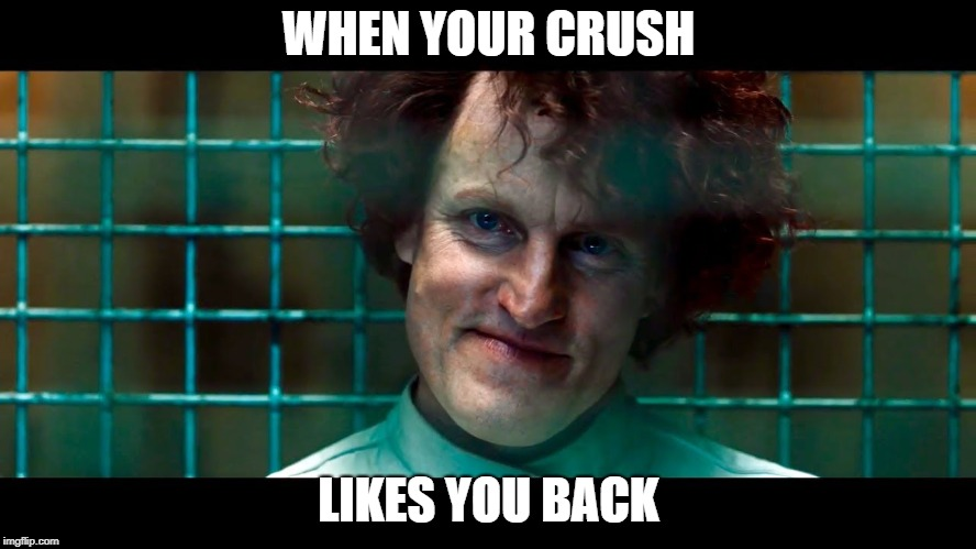 Love me or There's going to be Carnage | WHEN YOUR CRUSH LIKES YOU BACK | image tagged in venom,carnage,when your crush,crush,likes,2019 | made w/ Imgflip meme maker