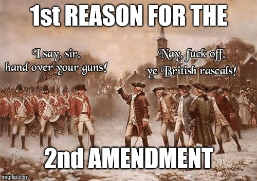 Hand Over | 1st REASON FOR THE 2nd AMENDMENT | image tagged in hand over | made w/ Imgflip meme maker