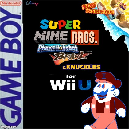 Super Mine Bros. Planet Robobot Brawl & Knuckles for Wii U | image tagged in blank game cover,memes | made w/ Imgflip meme maker