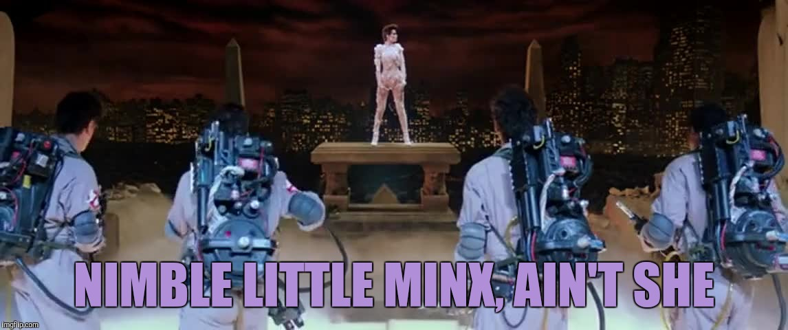 NIMBLE LITTLE MINX, AIN'T SHE | made w/ Imgflip meme maker