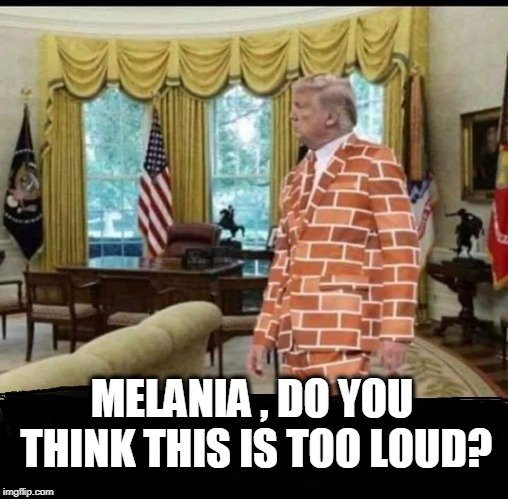 MELANIA , DO YOU THINK THIS IS TOO LOUD? | image tagged in trump,build a wall,loud | made w/ Imgflip meme maker