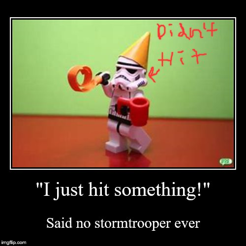 """I just hit something!"" 