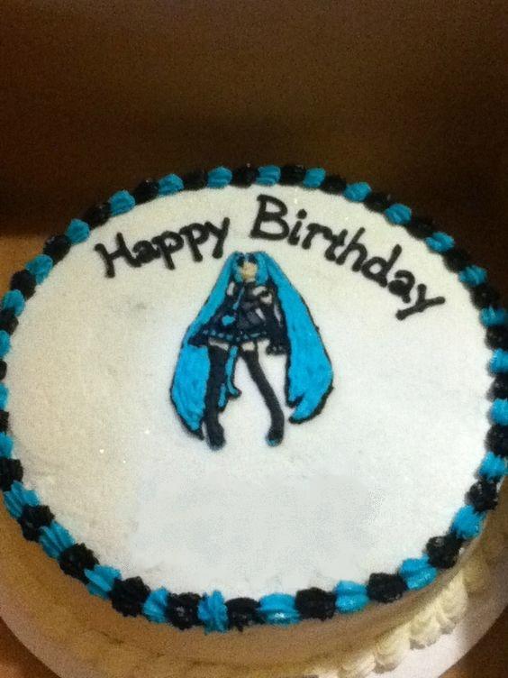 Fantastic Miku Birthday Cake Blank Name Meme Generator Imgflip Personalised Birthday Cards Veneteletsinfo
