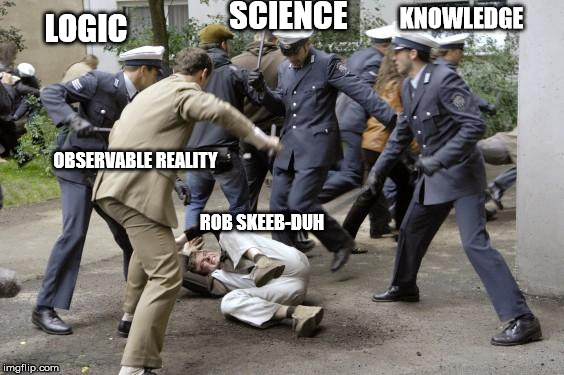 Rob Skiba goes Outside |  SCIENCE; KNOWLEDGE; LOGIC; OBSERVABLE REALITY; ROB SKEEB-DUH | image tagged in beatdown,flat earthers,flat earth dome | made w/ Imgflip meme maker