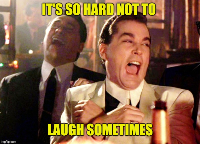 Good Fellas Hilarious Meme | IT'S SO HARD NOT TO LAUGH SOMETIMES | image tagged in memes,good fellas hilarious | made w/ Imgflip meme maker
