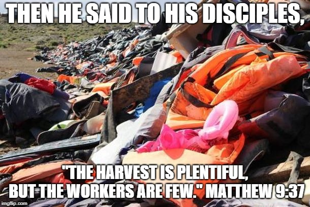 "THEN HE SAID TO HIS DISCIPLES, ""THE HARVEST IS PLENTIFUL, BUT THE WORKERS ARE FEW."" MATTHEW 9:37 