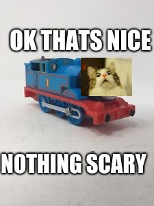 thomas train | NOTHING SCARY OK THATS NICE | image tagged in thomas train | made w/ Imgflip meme maker
