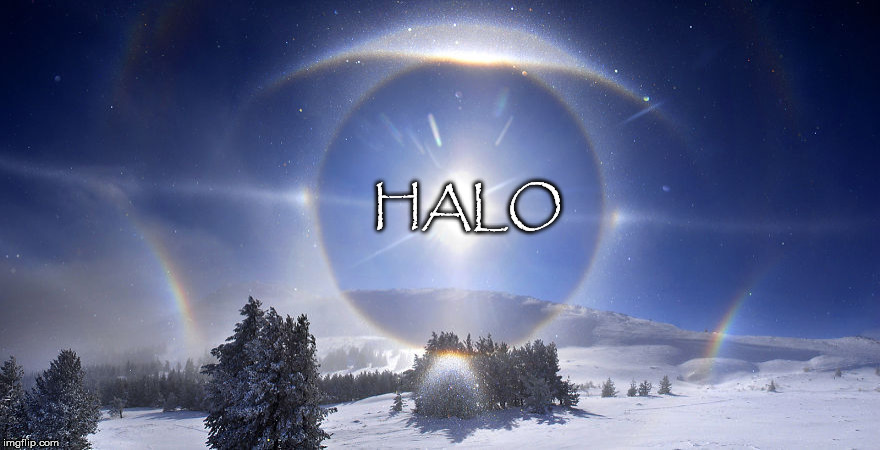HALO | HALO | image tagged in sun dog,halo,depeche mode,song,hit | made w/ Imgflip meme maker