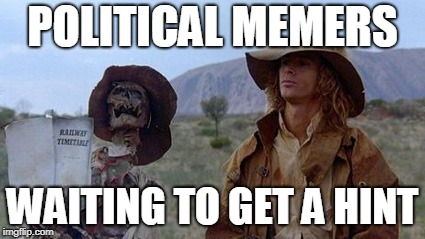 POLITICAL MEMERS WAITING TO GET A HINT | made w/ Imgflip meme maker