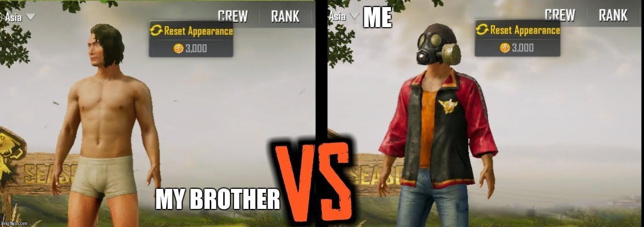 pubg | ME MY BROTHER | image tagged in gaming | made w/ Imgflip meme maker
