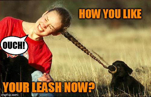 OUCH! YOUR LEASH NOW? HOW YOU LIKE | made w/ Imgflip meme maker