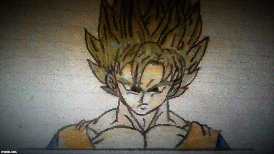 Experiment with Goku's Hair (Gold) | image tagged in dragon ball z,goku | made w/ Imgflip meme maker