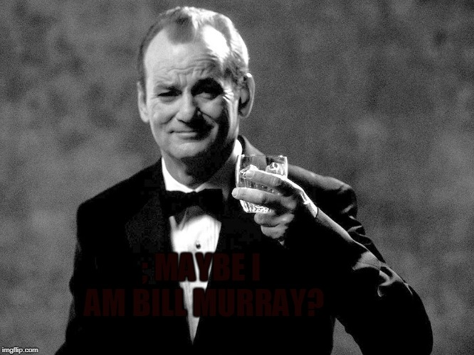 Bill Murray well played sir | ; MAYBE I AM BILL MURRAY? | image tagged in bill murray well played sir | made w/ Imgflip meme maker