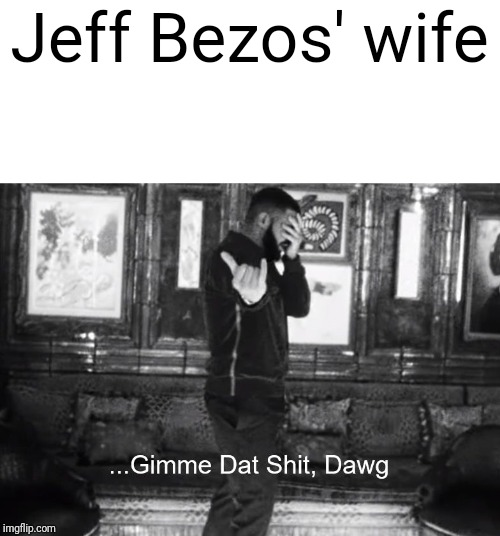 Jeff Bezos' wife | image tagged in gimme dat shit dawg | made w/ Imgflip meme maker