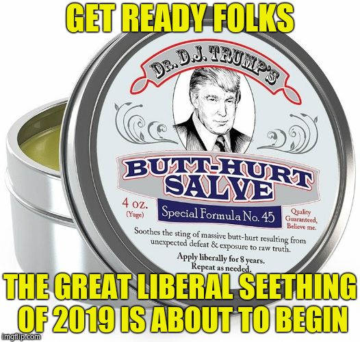 Not long for the Notorious RBG | GET READY FOLKS THE GREAT LIBERAL SEETHING OF 2019 IS ABOUT TO BEGIN | image tagged in butthurt salve,ruth bader ginsburg,retirement,triggered liberal,scotus | made w/ Imgflip meme maker