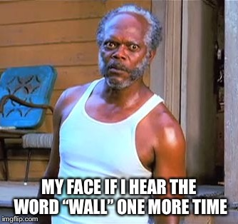 "Wall | MY FACE IF I HEAR THE WORD ""WALL"" ONE MORE TIME 