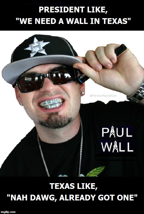 Paul (Border) Wall | image tagged in border,border wall,paul wall | made w/ Imgflip meme maker