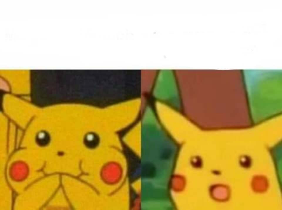 Happy Then Surprised Pikachu Blank Template Imgflip