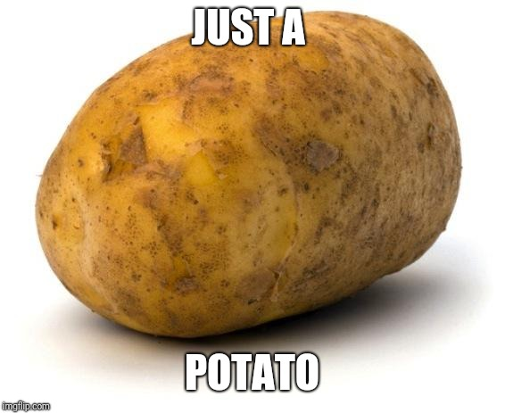 I am a potato | JUST A POTATO | image tagged in i am a potato | made w/ Imgflip meme maker