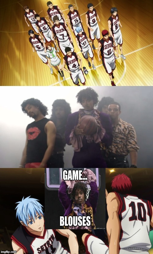 Seirin High vs The Blouses | image tagged in dave chappelle,anime,animeme,anime meme | made w/ Imgflip meme maker
