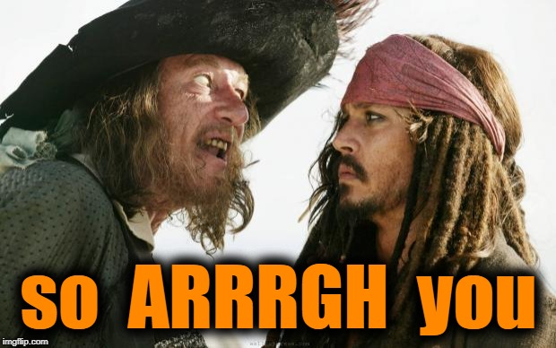 Pirates | so  ARRRGH  you | image tagged in pirates | made w/ Imgflip meme maker