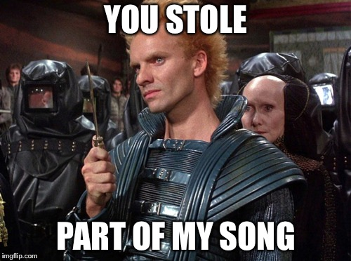 "Sting from Dune ""I will kill you!"" 