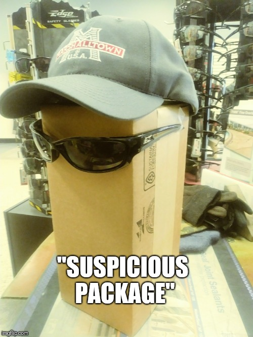 "Suspicious package | ""SUSPICIOUS PACKAGE"" 