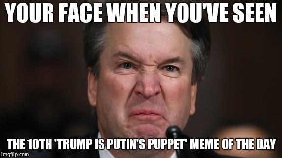 YOUR FACE WHEN YOU'VE SEEN THE 10TH 'TRUMP IS PUTIN'S PUPPET' MEME OF THE DAY | image tagged in the last sneer,beyondthecomments | made w/ Imgflip meme maker
