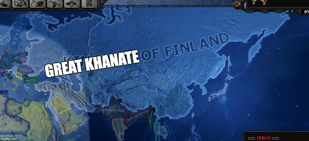 Hoi4 Meme | GREAT KHANATE | image tagged in hoi4,hearts of iron 4,kaiserreich,finland,fingolia | made w/ Imgflip meme maker