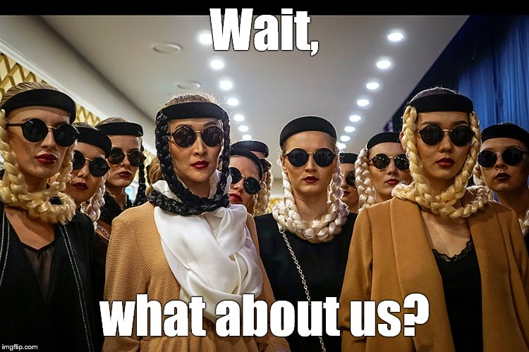 Yes, we're different | Wait, what about us? | image tagged in yes we're different | made w/ Imgflip meme maker