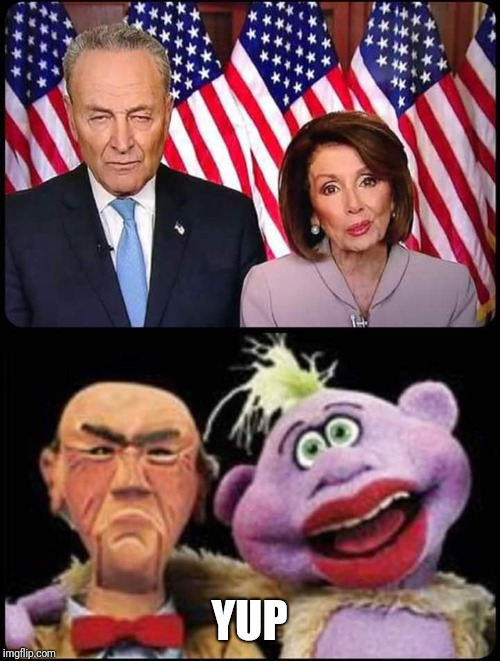 I knew I had seen them somewhere before | YUP | image tagged in chucky n crazy nancy | made w/ Imgflip meme maker