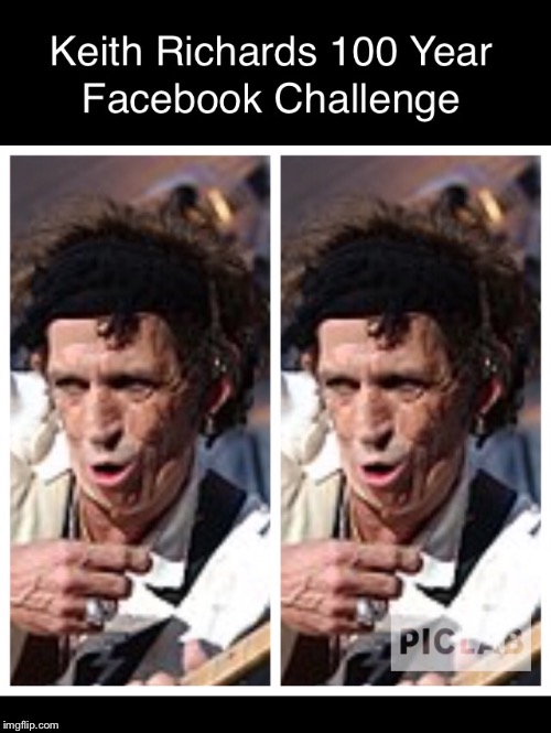 Facebook Challenge | image tagged in facebook,keith richards,challenge | made w/ Imgflip meme maker