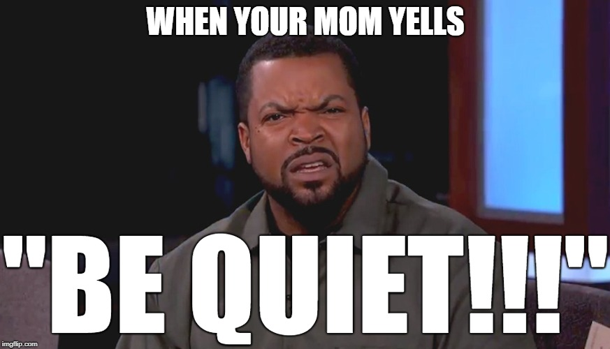 "She confuses me to no end, I tell you | WHEN YOUR MOM YELLS ""BE QUIET!!!"" 