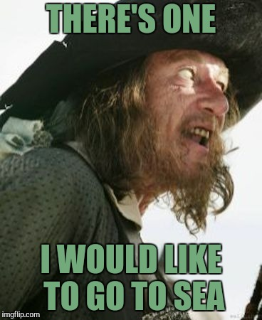 barbosa pirate | THERE'S ONE I WOULD LIKE TO GO TO SEA | image tagged in barbosa pirate | made w/ Imgflip meme maker