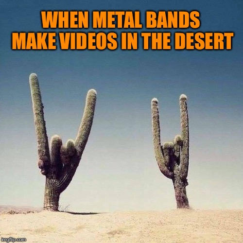 Death Metal Valley | WHEN METAL BANDS MAKE VIDEOS IN THE DESERT | image tagged in heavy metal,cactus,desert,death metal,funny memes | made w/ Imgflip meme maker