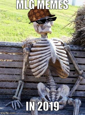 Waiting Skeleton | MLG MEMES IN 2019 | image tagged in memes,waiting skeleton | made w/ Imgflip meme maker