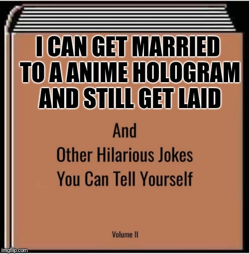 *insert Seinfeld music here* | I CAN GET MARRIED TO A ANIME HOLOGRAM AND STILL GET LAID | image tagged in meme,funny memes,anime,virgin,marriage,jokes | made w/ Imgflip meme maker
