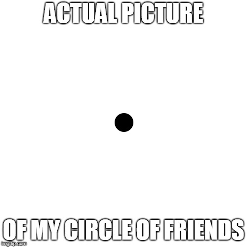 My Circle of Friends | ACTUAL PICTURE OF MY CIRCLE OF FRIENDS | image tagged in friends,circle,friendship,lonely man | made w/ Imgflip meme maker