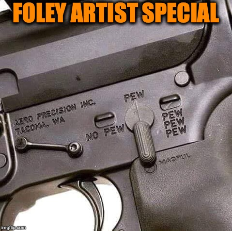 Ricochet Automatic  |  FOLEY ARTIST SPECIAL | image tagged in movies,gun,sound,firearms | made w/ Imgflip meme maker