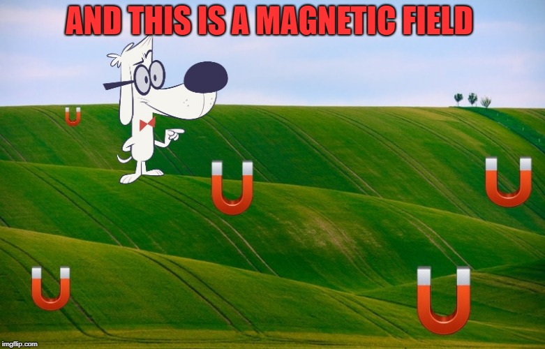 AND THIS IS A MAGNETIC FIELD | made w/ Imgflip meme maker