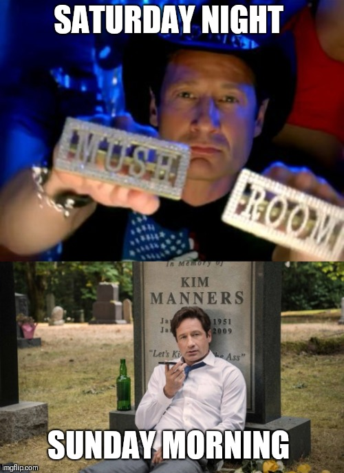 SATURDAY NIGHT SUNDAY MORNING | image tagged in fox mulder the x files,xfiles | made w/ Imgflip meme maker