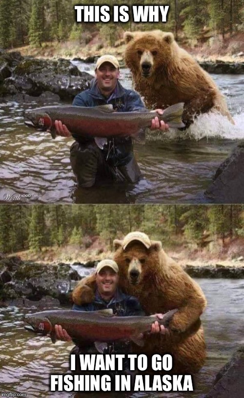 You can never have too many friends  |  THIS IS WHY; I WANT TO GO FISHING IN ALASKA | image tagged in fishing,alaska,selfie | made w/ Imgflip meme maker