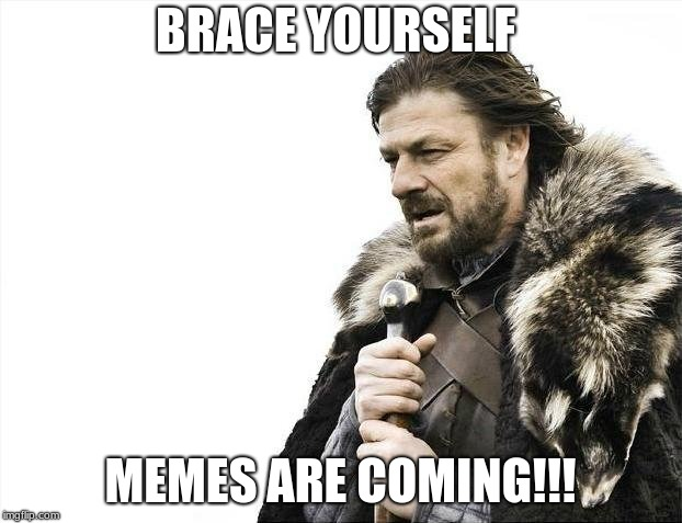 MEMES!!!! | BRACE YOURSELF MEMES ARE COMING!!! | image tagged in memes,brace yourselves x is coming | made w/ Imgflip meme maker