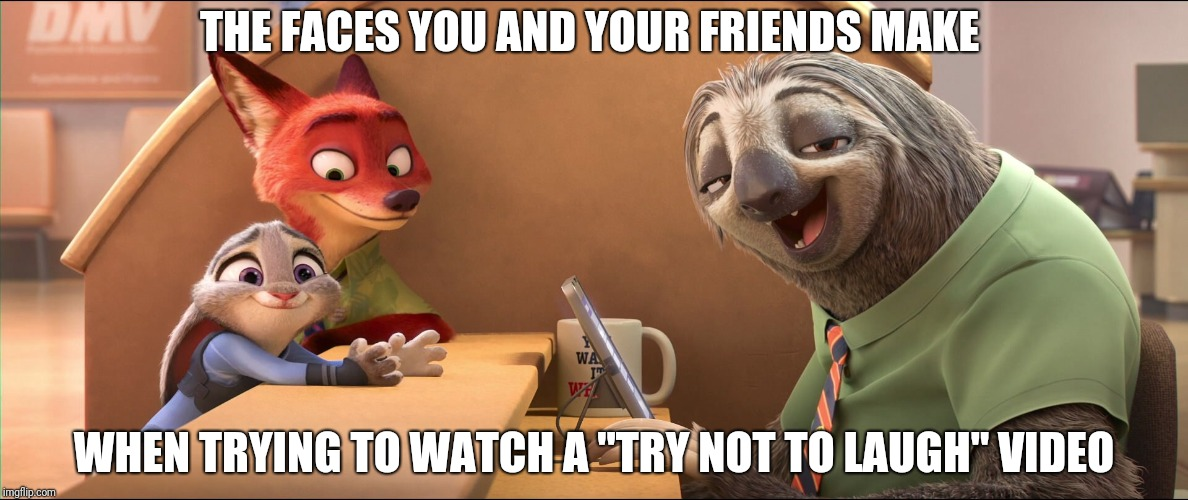 "Try Not to Laugh - Zootopia edition | THE FACES YOU AND YOUR FRIENDS MAKE WHEN TRYING TO WATCH A ""TRY NOT TO LAUGH"" VIDEO 
