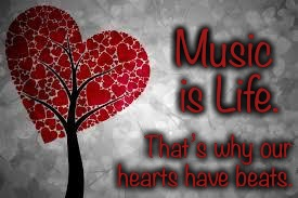 Tree heart | Music is Life. That's why our     hearts have beats. | image tagged in tree heart | made w/ Imgflip meme maker
